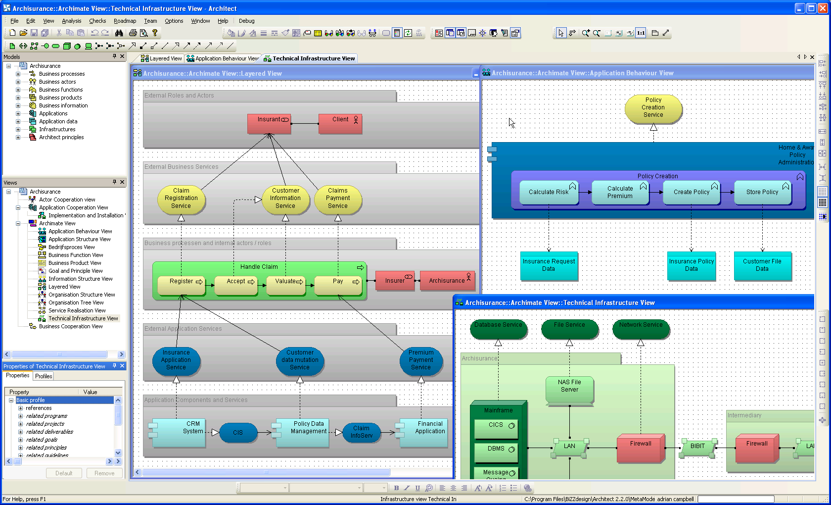 Bizzdesign architect enterprise architecture for Application design tools